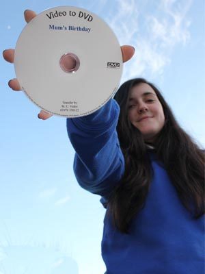amy holding dvd
